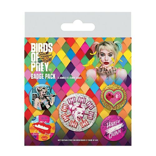 DC Comics Harley Quinn Birds Of Prey Button Badge Pack